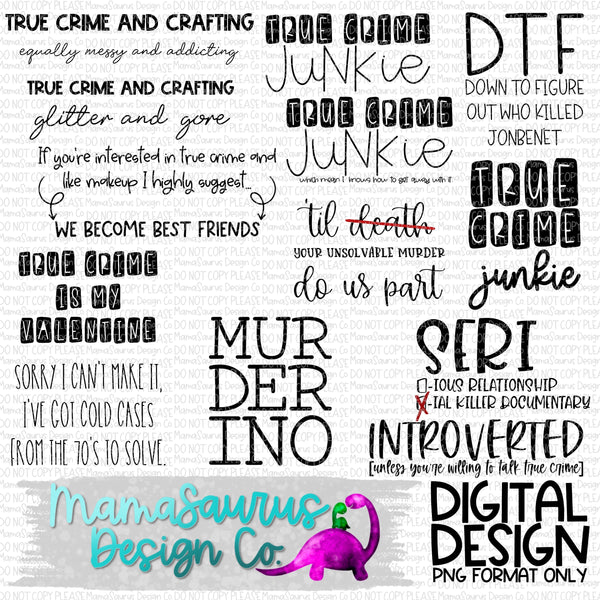 True Crime Bundle 27 Digital Design