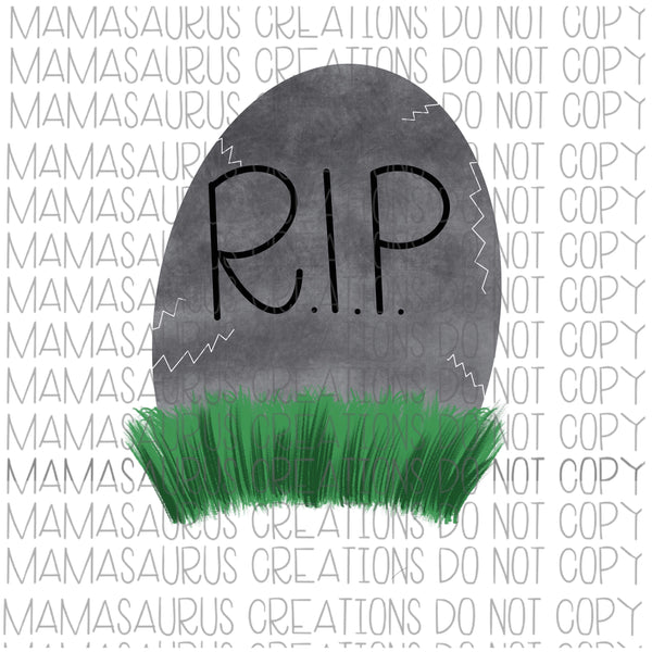 HandDrawn Tombstone Digital Design