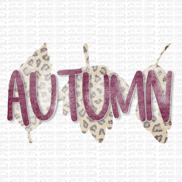 Leopard Autumn Digital Design