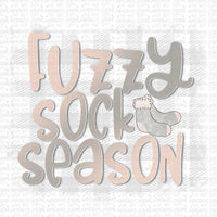 Fuzzy Sock Season Digital Design