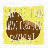 Eggs Breakfast Digital Design