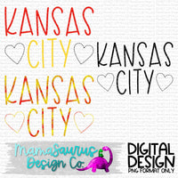 Kansas City Football Stitch Digital Design
