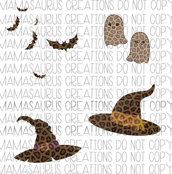 Leopard Halloween Elements Digital Design
