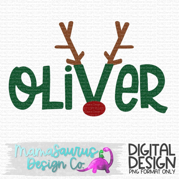 Custom Reindeer Name Digital Design