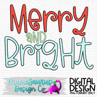 Merry and Bright Digital Design