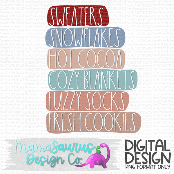 Winter Stuff List Digital Design