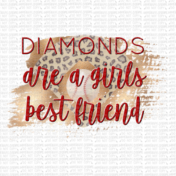 Diamonds Girls Best Friend Digital Design