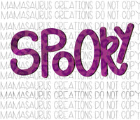 Spooky Leopard Digital Design