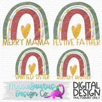 Christmas Rainbow Family Set Digital Design