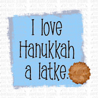 Hanukkah Latke Digital Design