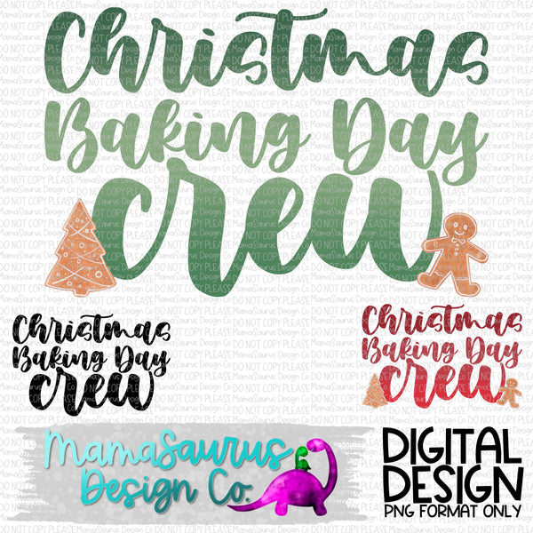 Christmas Baking Crew Digital Design