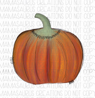 Watercolor Pumpkin Digital Design