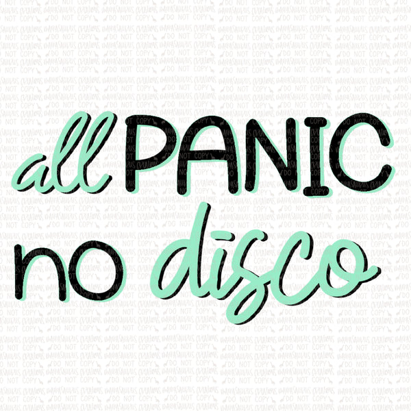 All Panic No Disco Digital Design