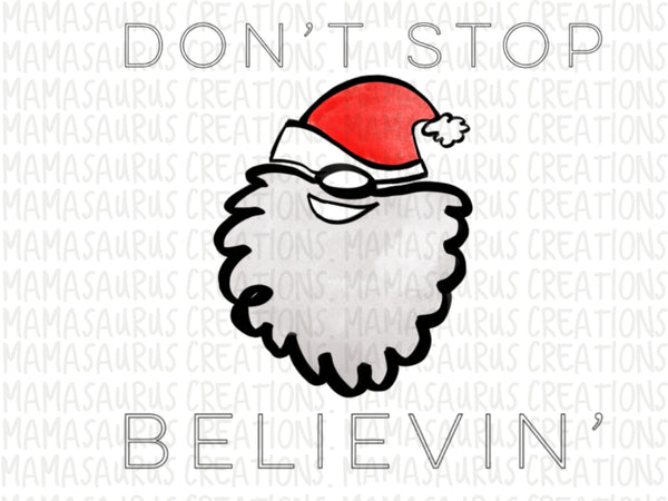Don't Stop Believin' Santa Digital Design