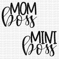 Mom Boss Mini Boss Black Digital Design