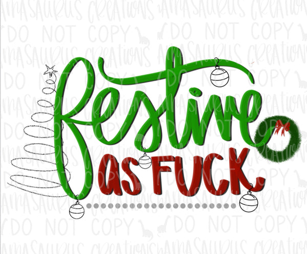 Festive as Fuck Digital Design