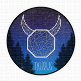 Geo Zodiac Taurus Digital Design