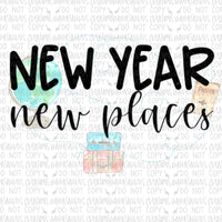 New Year, New Places Digital Design