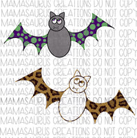 Hand Drawn Bats Digital Design