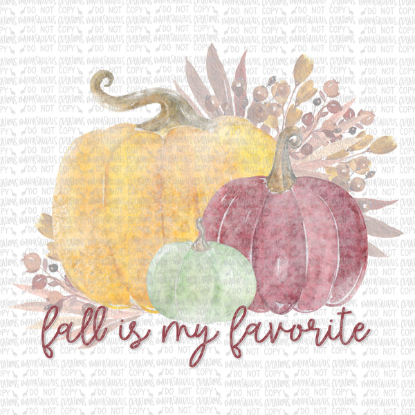 Pumpkins Fall Favorite Digital Design