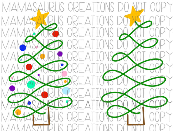 Hand Drawn Christmas Tree Digital Design