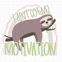 No Motivation Sloth Digital Design