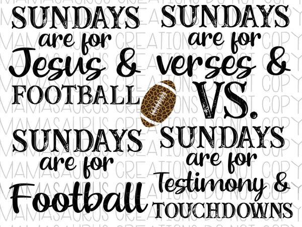 Sundays are for Football Bundle Digital Design