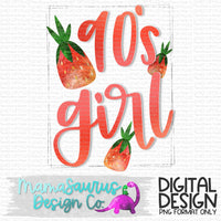 90's Girl Strawberry Candies Digital Design