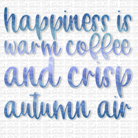Coffee and Crisp Air Digital Design