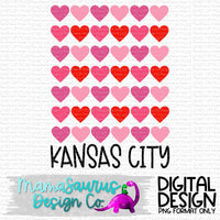 Hearts Grid KC Digital Design
