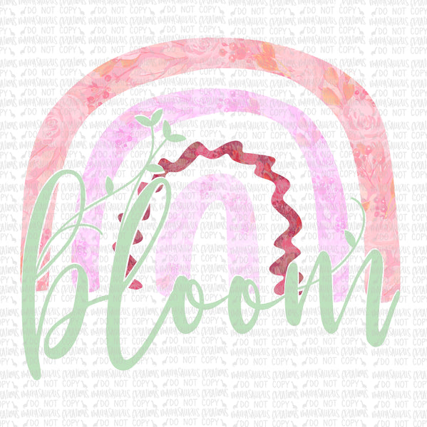 Bloom Floral Rainbow Digital Design