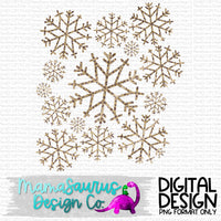 Leopard Snowflakes Digital Design