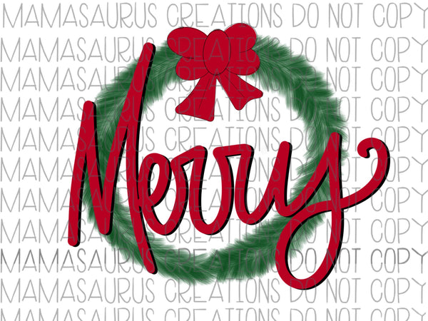 Merry Wreath Digital Design