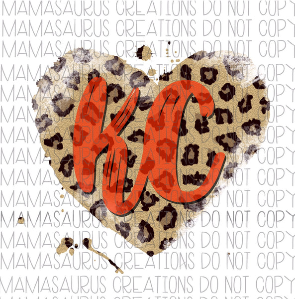 KC Leopard Heart Digital Design
