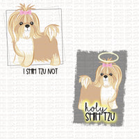 Shih Tzu Funny Digital Design