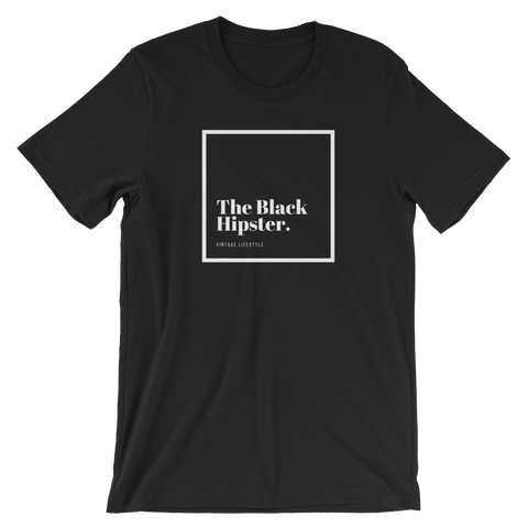 "The Black Hipster. Original Tee- ""The Classic"""
