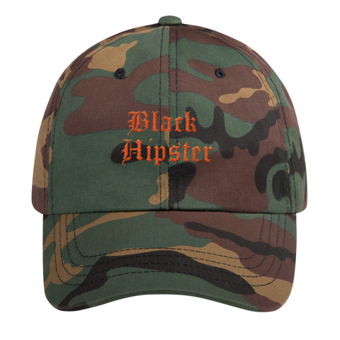 Black Hipster Dad Hat