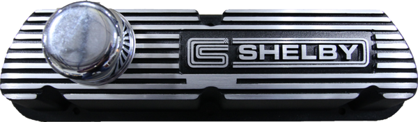 Shelby 289/351 Finned Valve Cover - Pair (Black Finish)