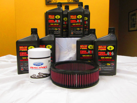289/302/351 Small Block Oil Change Kit - 10W30 Oil