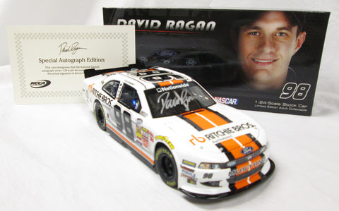 1:24 David Ragan Autographed #98 Ritchie Bros NASCAR