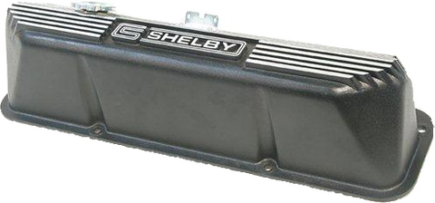 Shelby FE Finned Valve Cover -Pair (Black Finish)