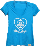Shelby Cobra Heart Vneck Tee