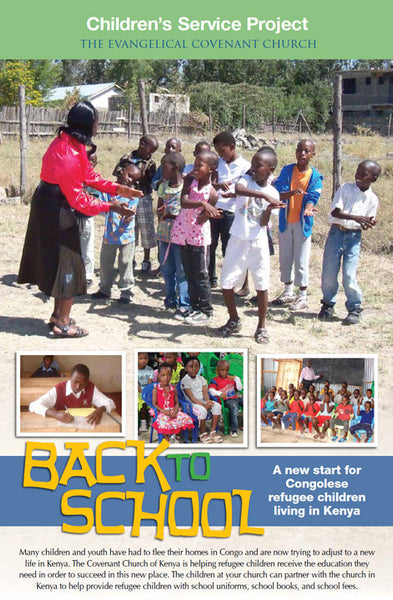 Back to School: Service Project Poster