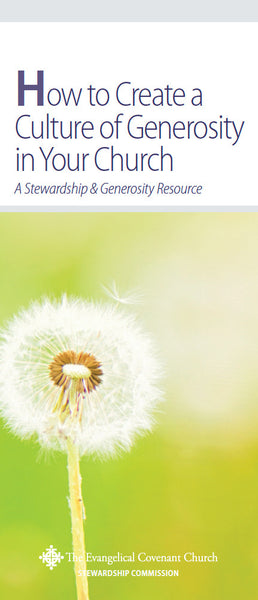 How to Create a Culture of Generosity in Your Church Brochure