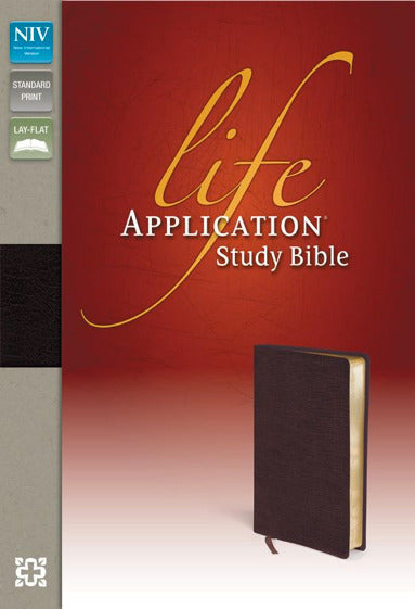 NIV Life Application Study Bible (Top-Grain Black Leather)