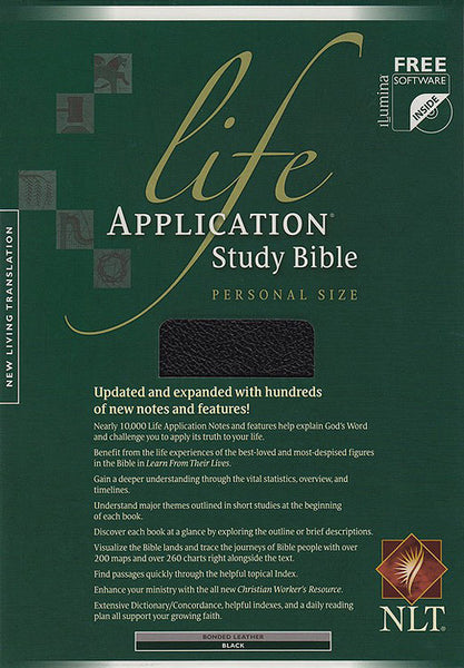 NLT Life Application Personal Size Study Bible (Bonded Black Leather)
