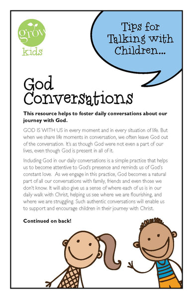 GROW Kids - God Conversations (Tips for Talking with Children)