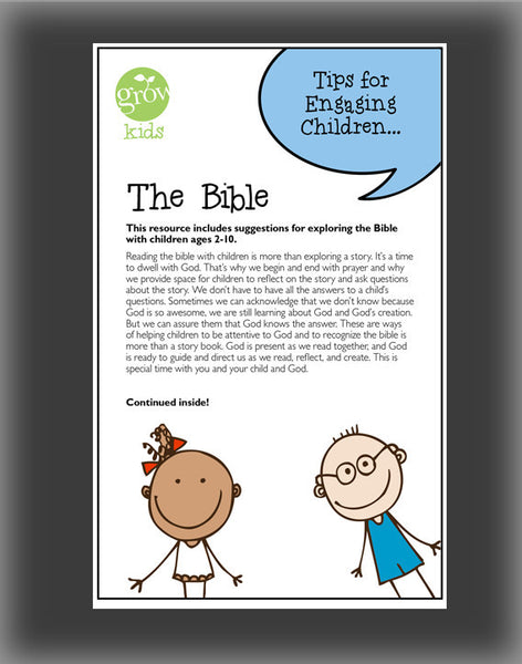 GROW Kids - The Bible (Tips for Engaging Children)