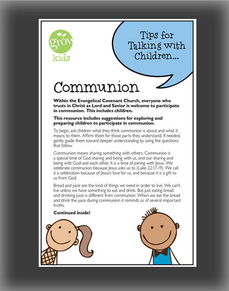 GROW Kids - Communion (Tips for Talking with Children)