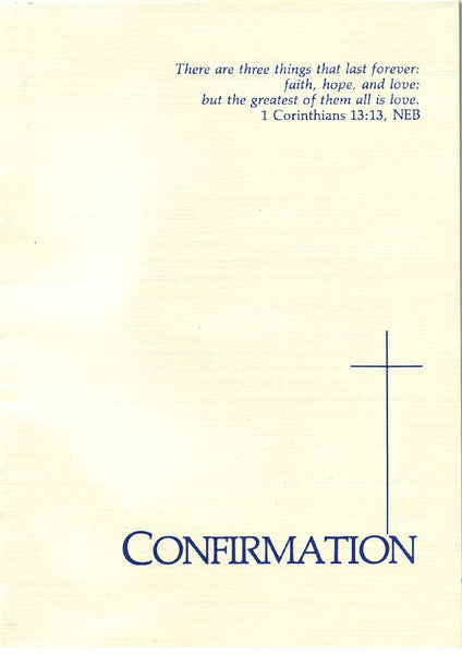 Covenant Confirmation Certificate
